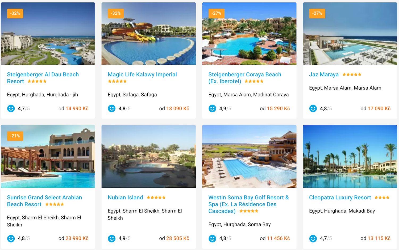 hotely v egyptě
